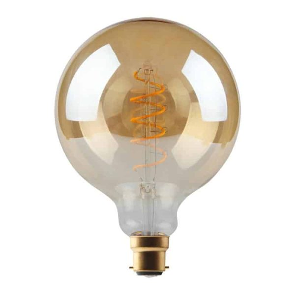 5W Dimmable Helix Filament G125 Gold BC Base