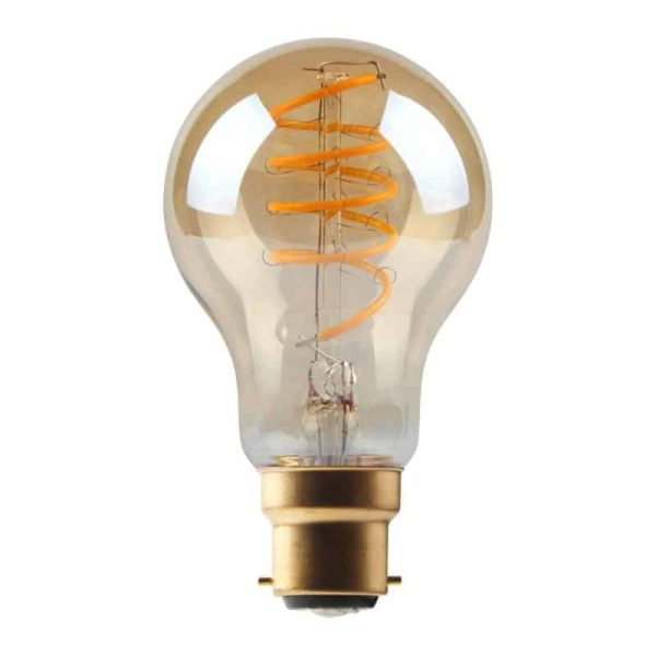 5W Dimmable Helix Filament GLS Gold BC Base