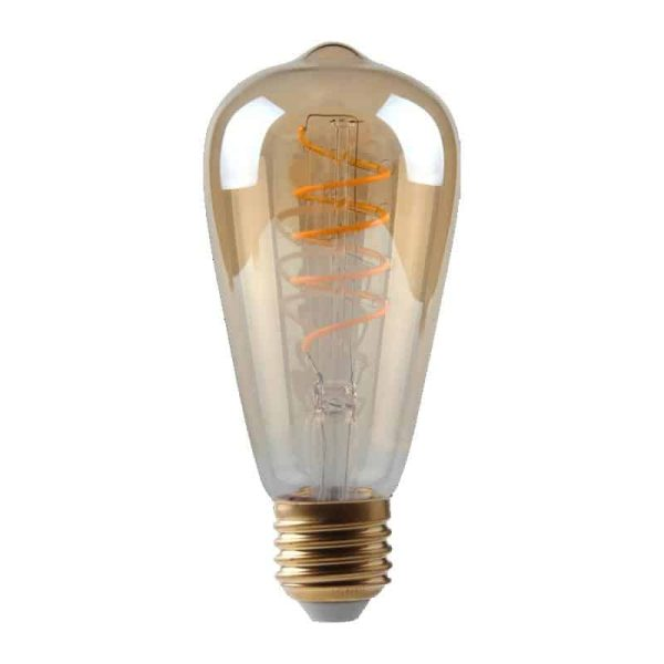 5W Dimmable Helix Filament ST64 Gold