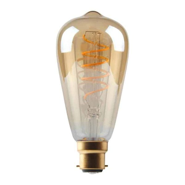 5W Dimmable Helix Filament ST64 Gold BC Base