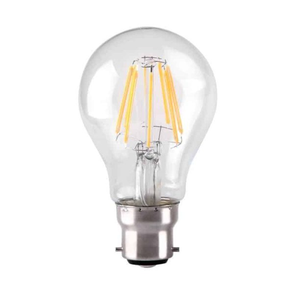 7W Dimmable LED Filament GLS Clear BC Base